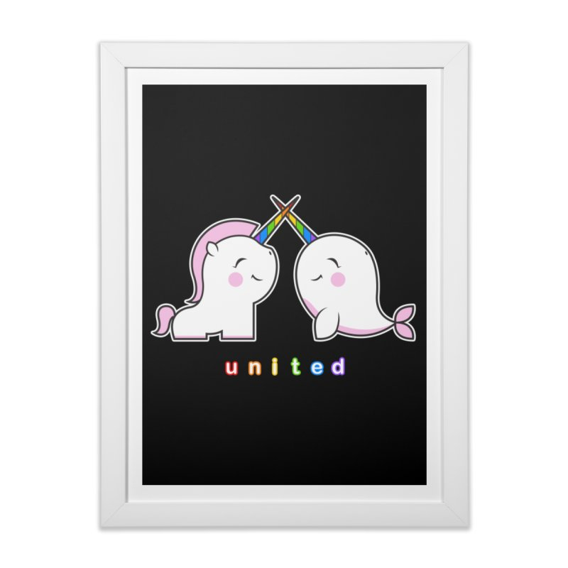 UNITED Home Framed Fine Art Print by an idle robot