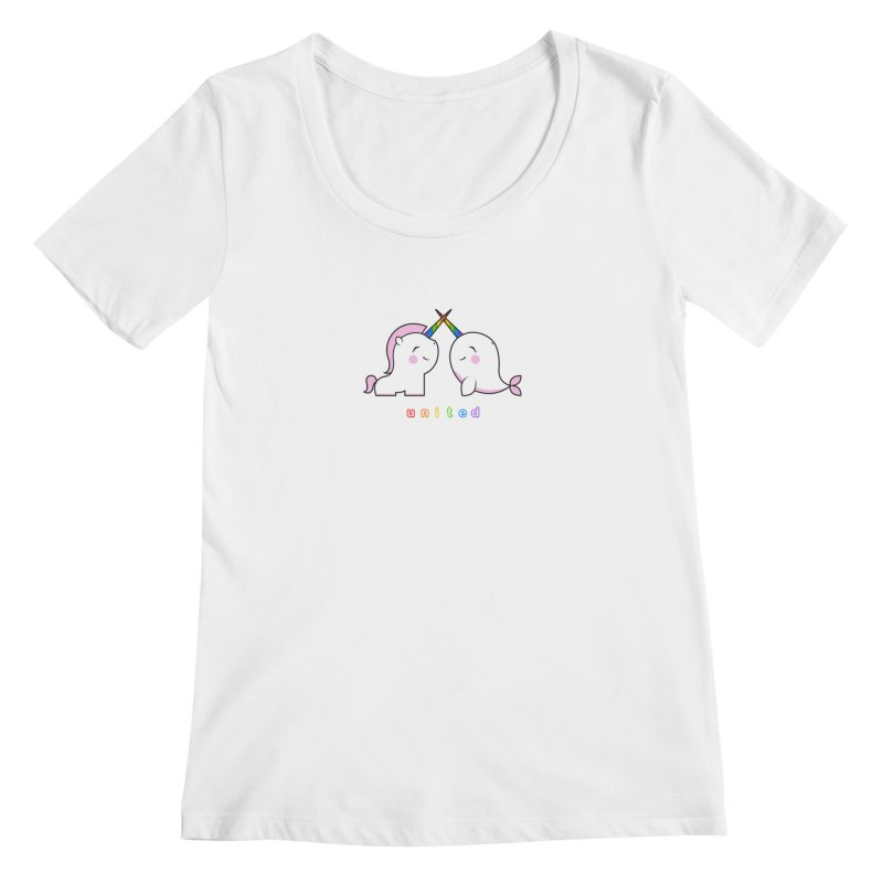 UNITED Women's Regular Scoop Neck by an idle robot