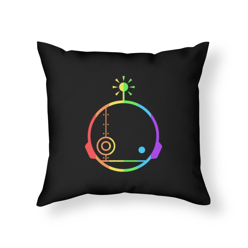AN IDLE ROBOT PRIDE Home Throw Pillow by an idle robot