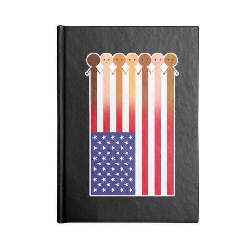 WE THE PEOPLE Accessories Blank Journal Notebook by an idle robot