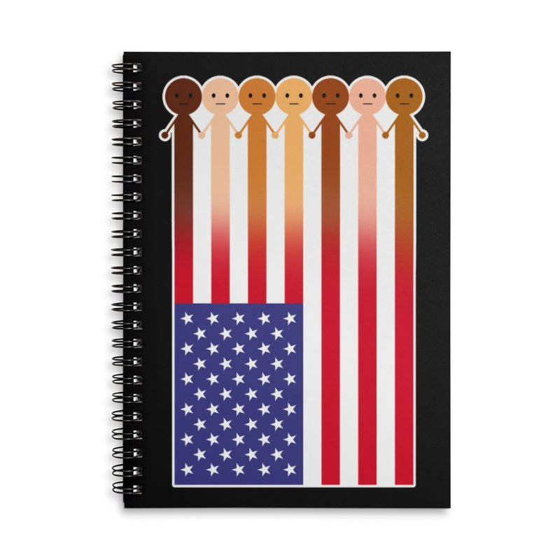 WE THE PEOPLE Accessories Lined Spiral Notebook by an idle robot