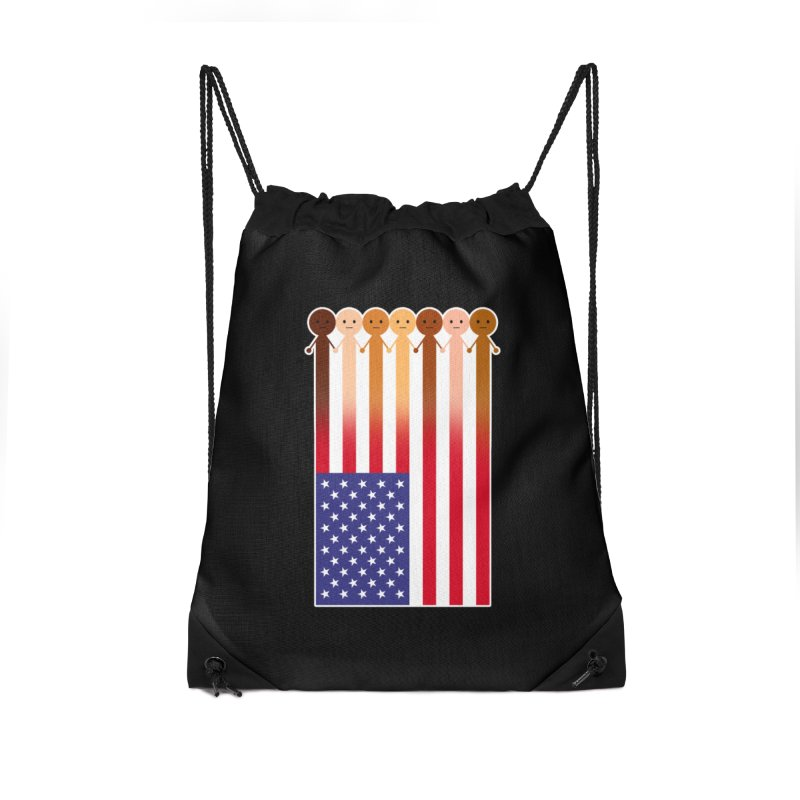 WE THE PEOPLE Accessories Drawstring Bag Bag by an idle robot