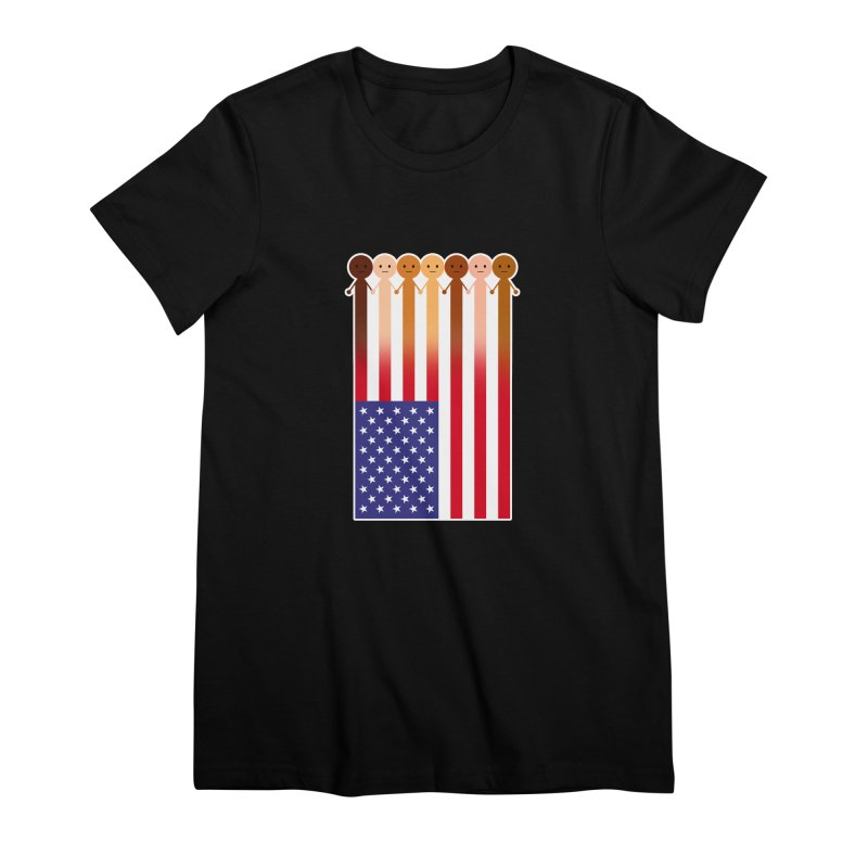 WE THE PEOPLE Women's Premium T-Shirt by an idle robot