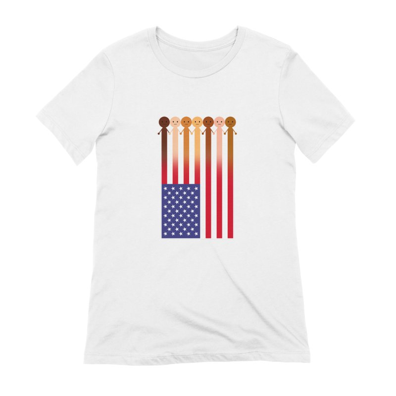 WE THE PEOPLE Women's Extra Soft T-Shirt by an idle robot