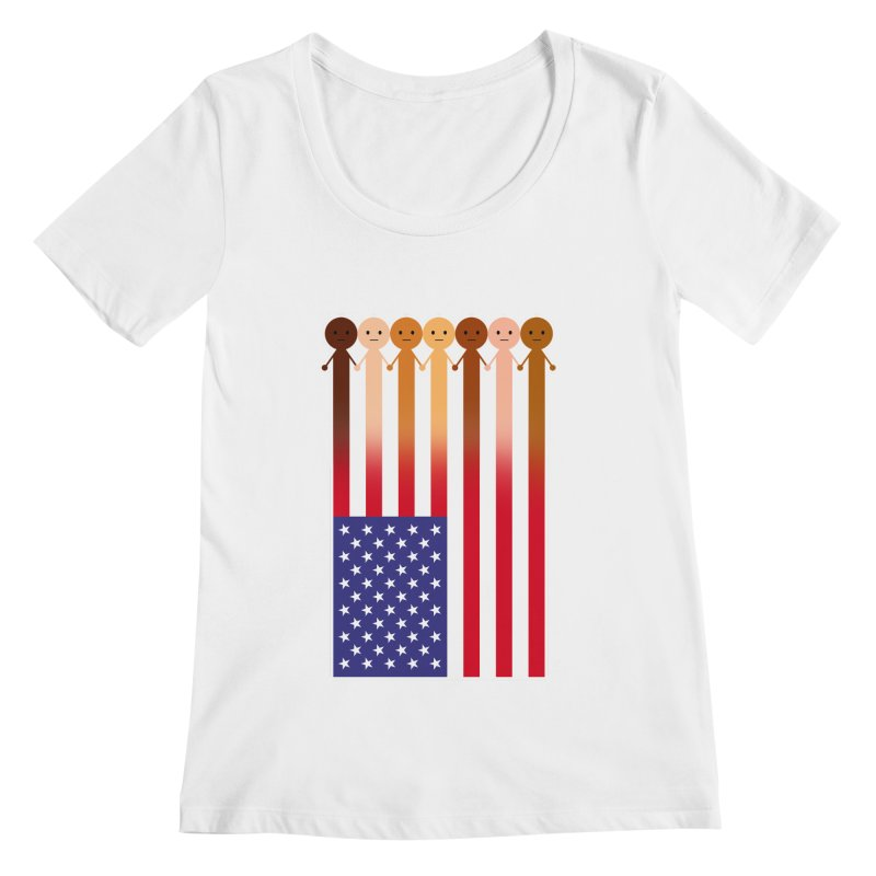 WE THE PEOPLE Women's Regular Scoop Neck by an idle robot