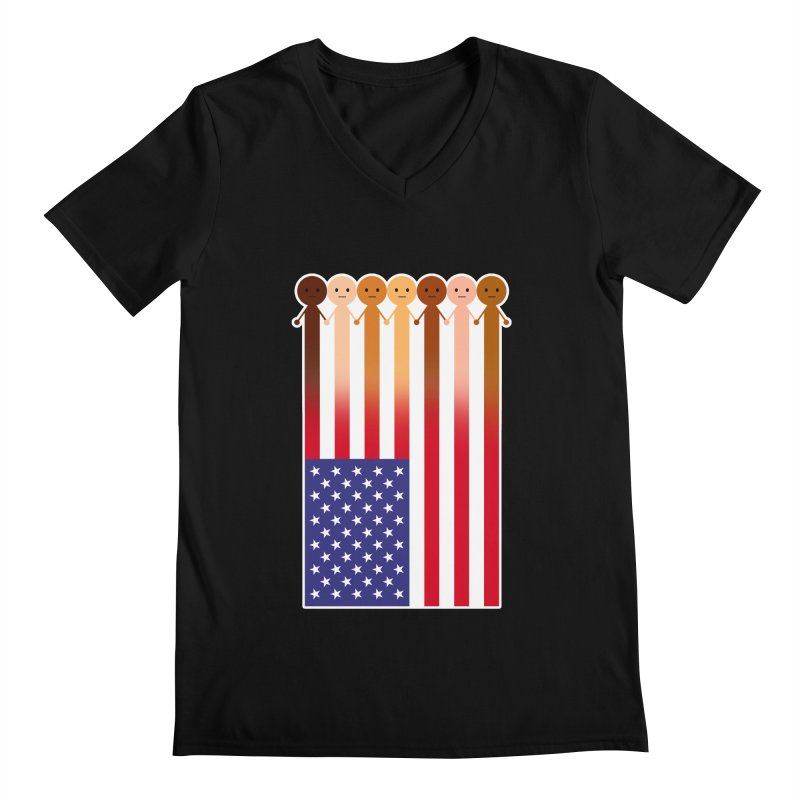 WE THE PEOPLE Men's Regular V-Neck by an idle robot