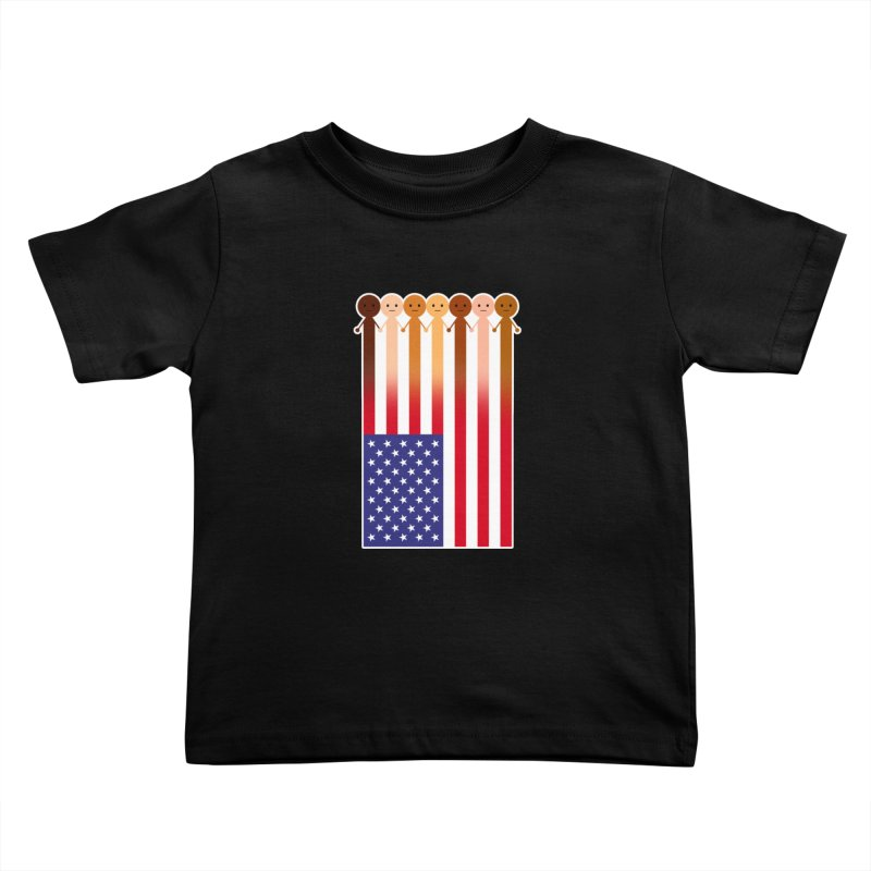 WE THE PEOPLE Kids Toddler T-Shirt by an idle robot