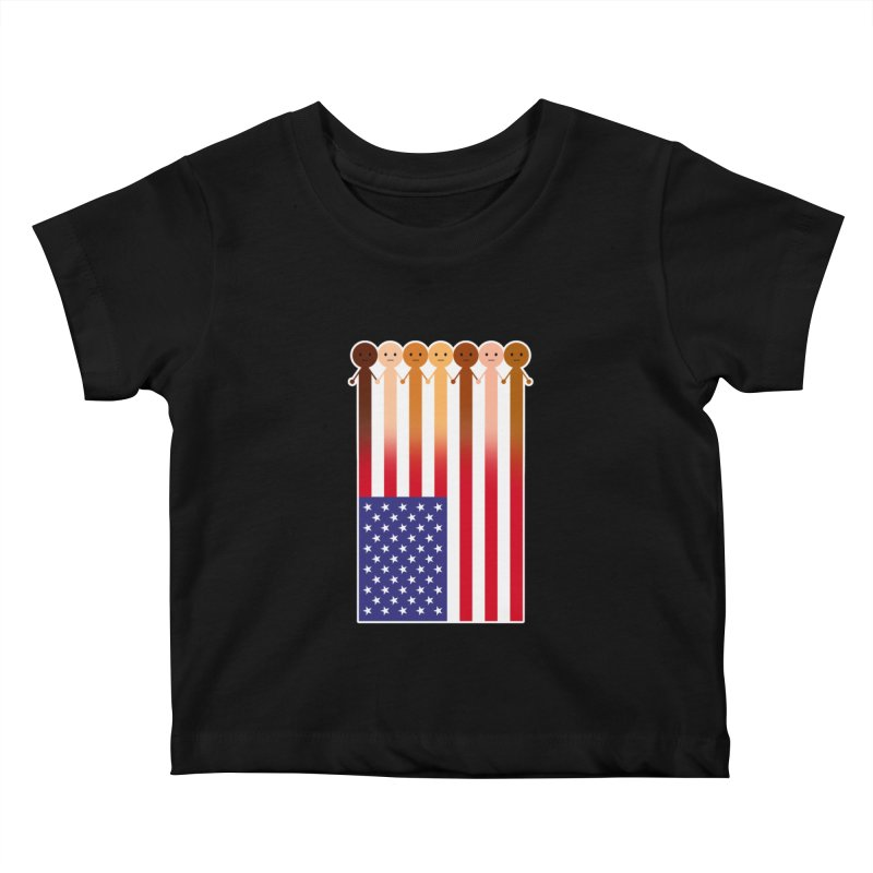 WE THE PEOPLE Kids Baby T-Shirt by an idle robot