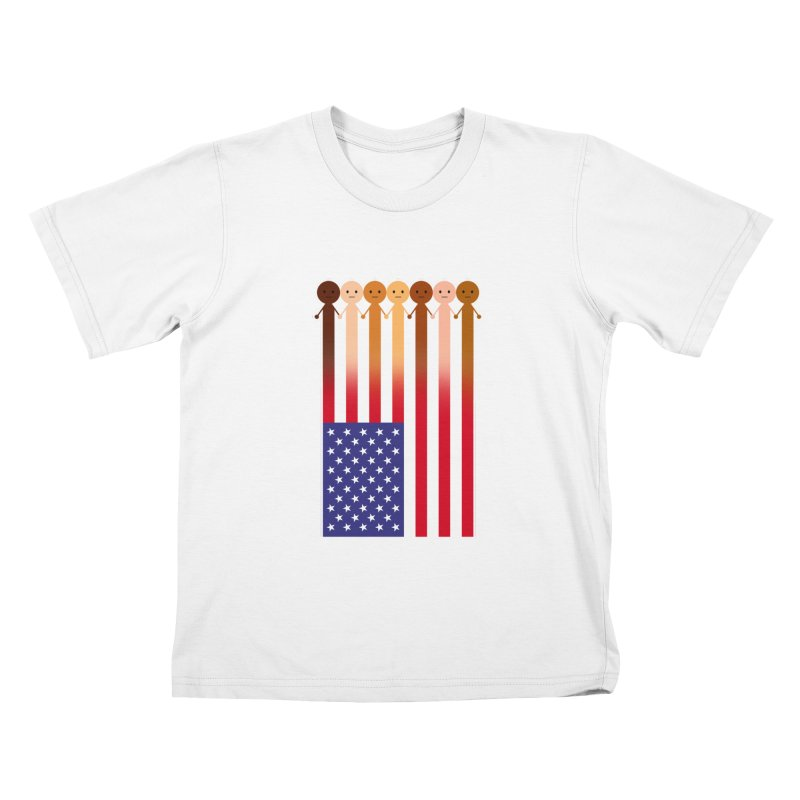 WE THE PEOPLE Kids T-Shirt by an idle robot