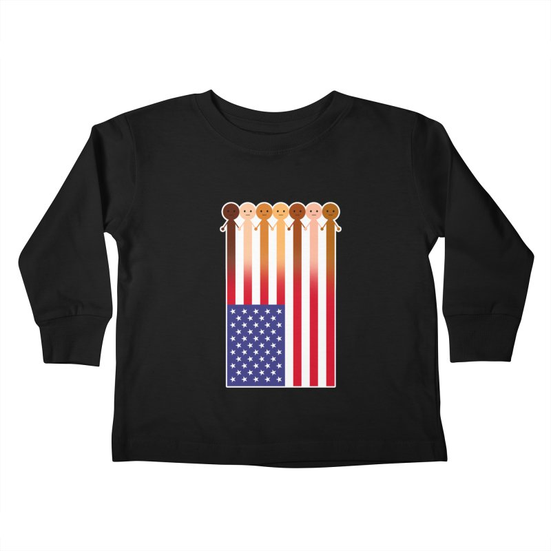 WE THE PEOPLE Kids Toddler Longsleeve T-Shirt by an idle robot