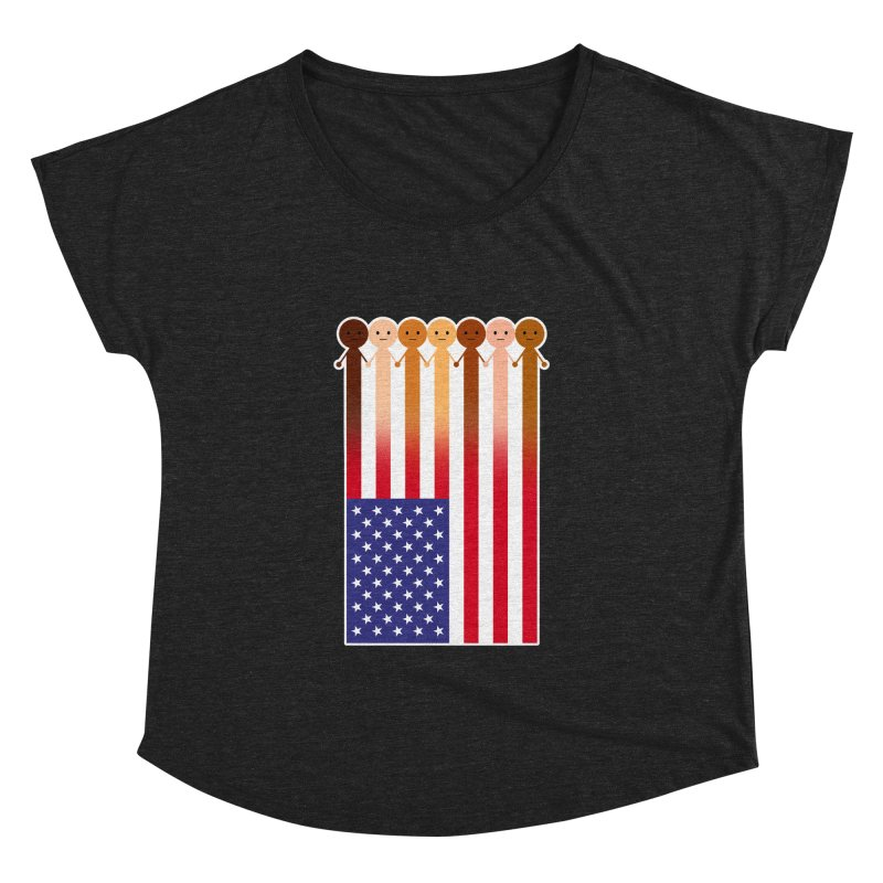 WE THE PEOPLE Women's Dolman Scoop Neck by an idle robot