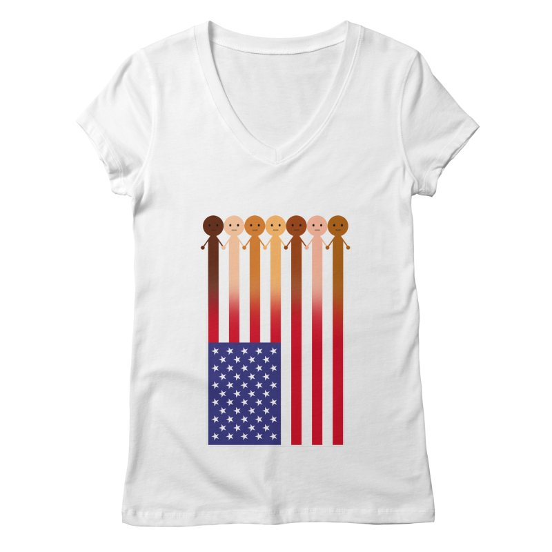 WE THE PEOPLE Women's Regular V-Neck by an idle robot