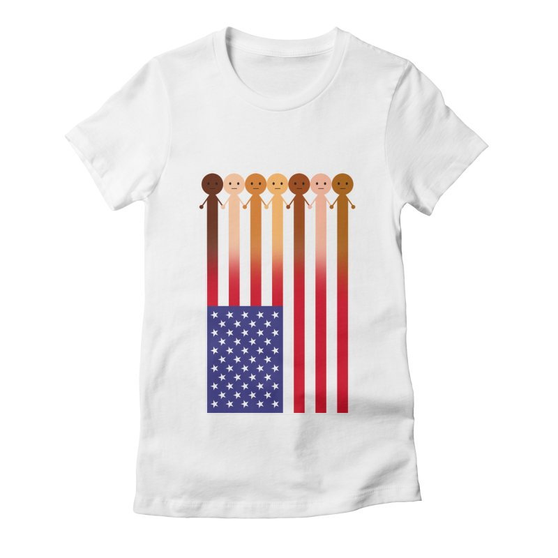 WE THE PEOPLE Women's Fitted T-Shirt by an idle robot