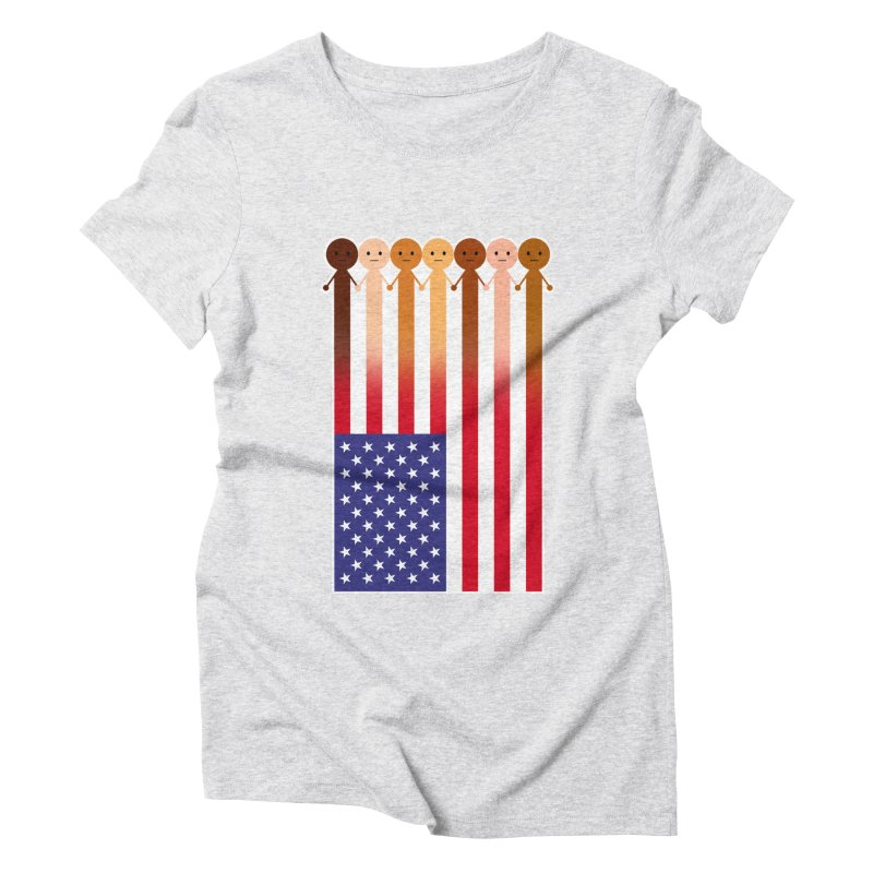 WE THE PEOPLE Women's Triblend T-Shirt by an idle robot