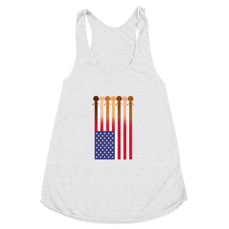 WE THE PEOPLE Women's Racerback Triblend Tank by an idle robot