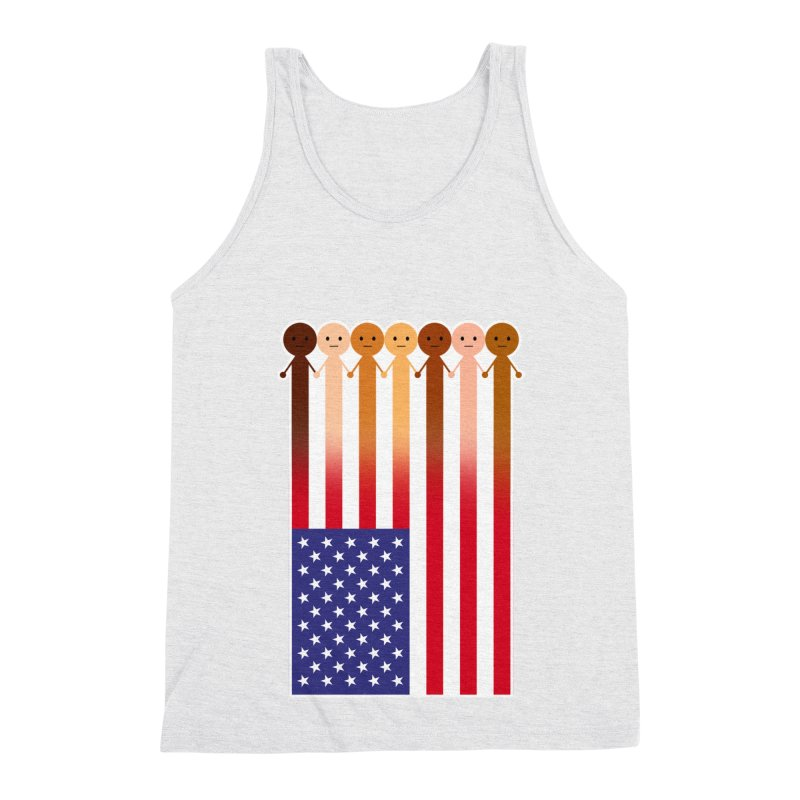 WE THE PEOPLE Men's Triblend Tank by an idle robot