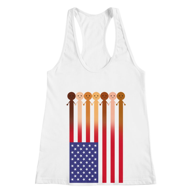 WE THE PEOPLE Women's Racerback Tank by an idle robot