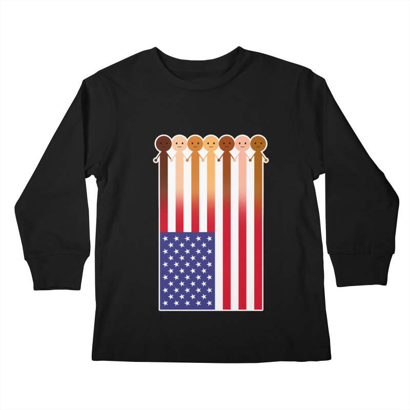 WE THE PEOPLE Kids Longsleeve T-Shirt by an idle robot