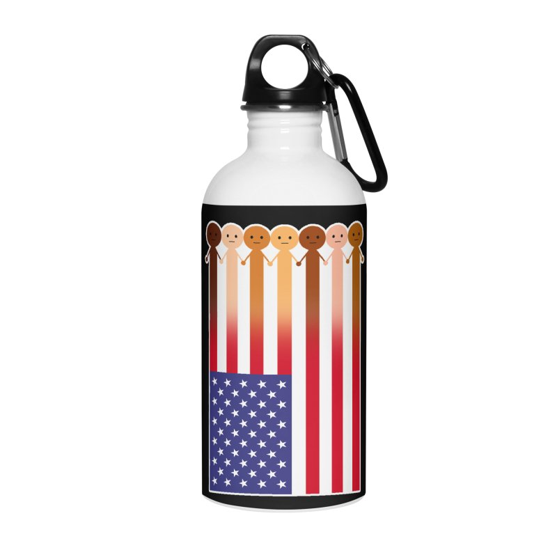WE THE PEOPLE Accessories Water Bottle by an idle robot