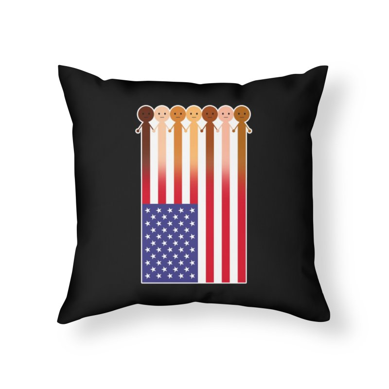 WE THE PEOPLE Home Throw Pillow by an idle robot