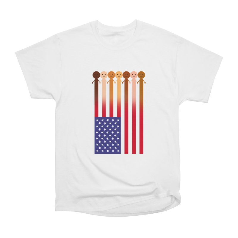 WE THE PEOPLE Women's Heavyweight Unisex T-Shirt by an idle robot