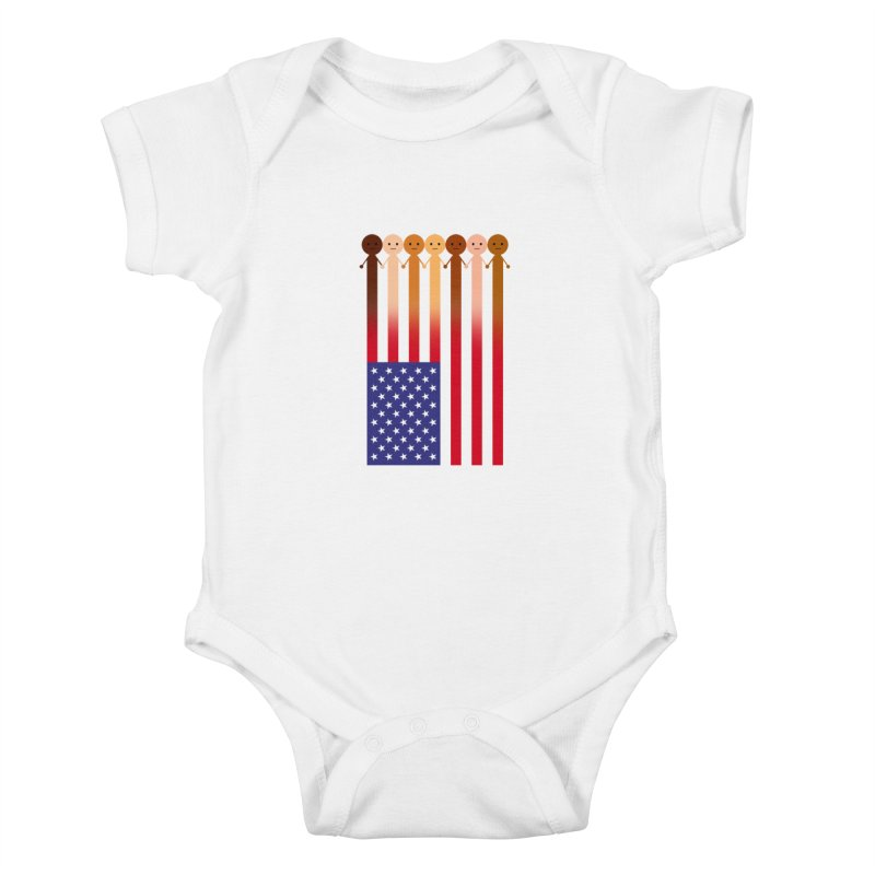 WE THE PEOPLE Kids Baby Bodysuit by an idle robot