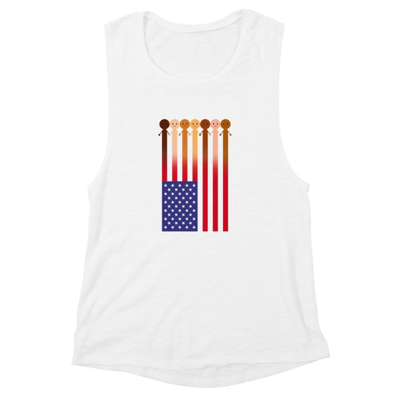 WE THE PEOPLE Women's Muscle Tank by an idle robot