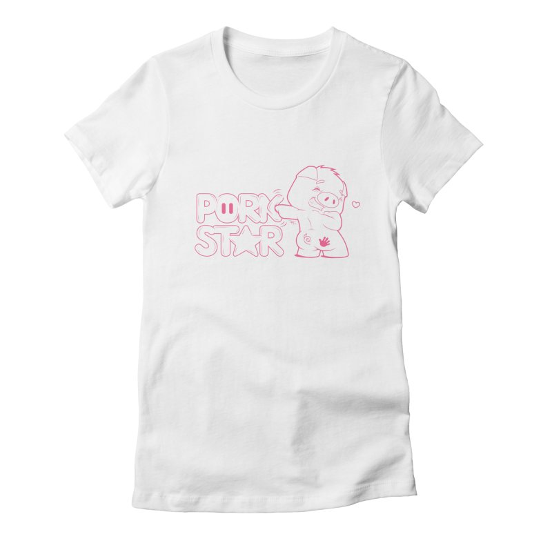 PORK STAR Women's Fitted T-Shirt by an idle robot