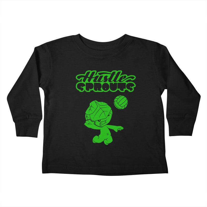 HUSTLE SPROUTS Kids Toddler Longsleeve T-Shirt by an idle robot