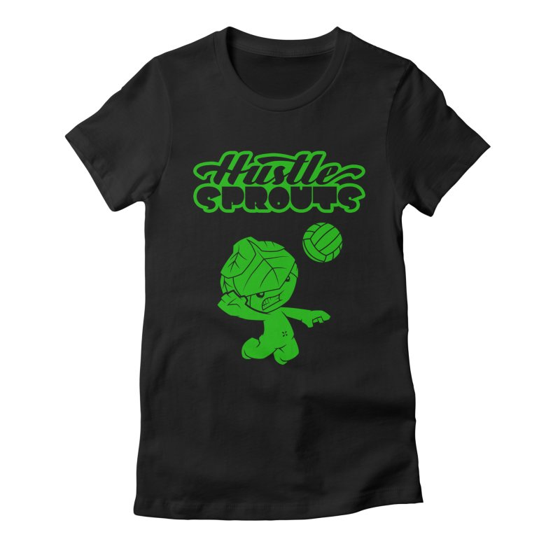 HUSTLE SPROUTS Women's Fitted T-Shirt by an idle robot