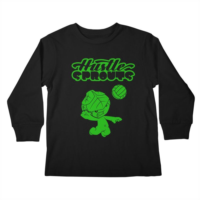 HUSTLE SPROUTS Kids Longsleeve T-Shirt by an idle robot