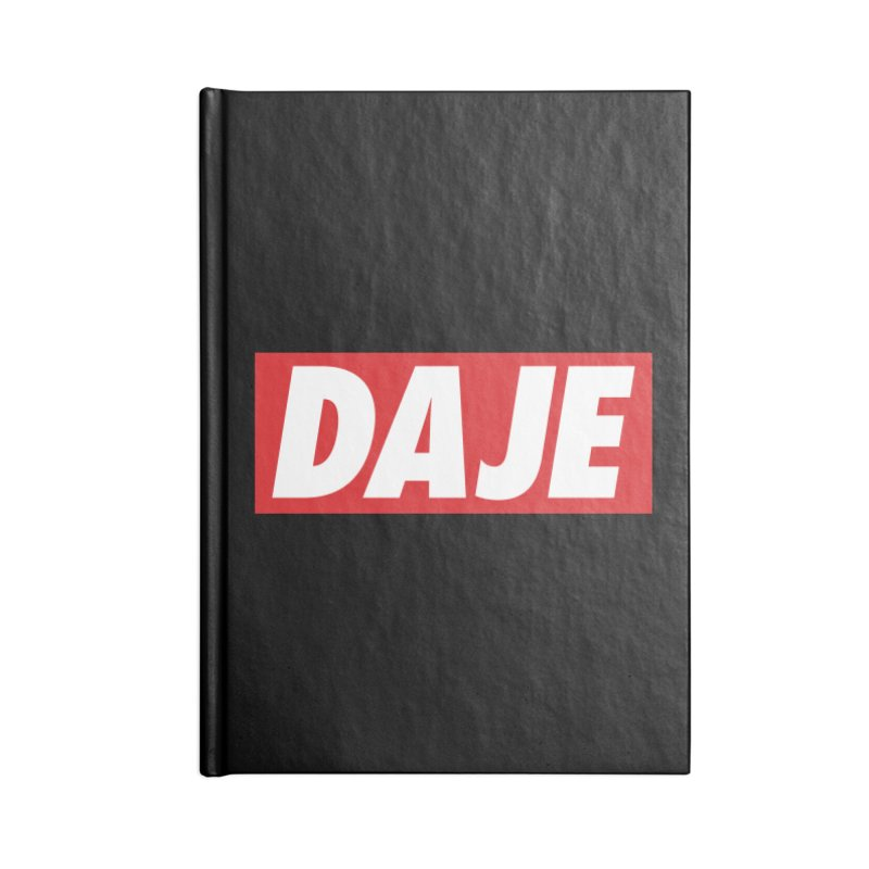 DAJE (RED) Accessories Blank Journal Notebook by Animalanima Shop