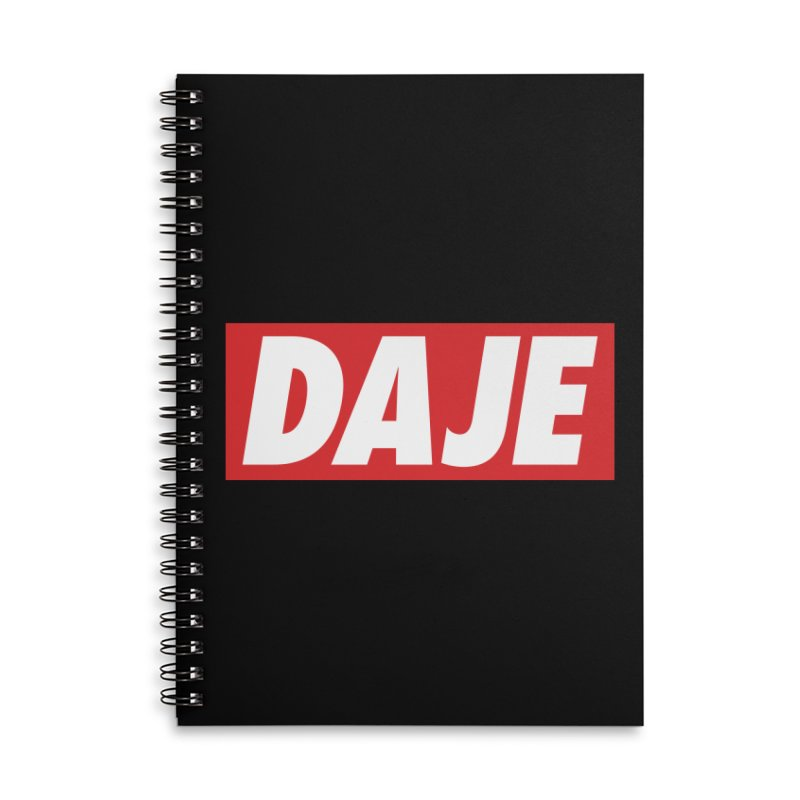 DAJE (RED) Accessories Lined Spiral Notebook by Animalanima Shop