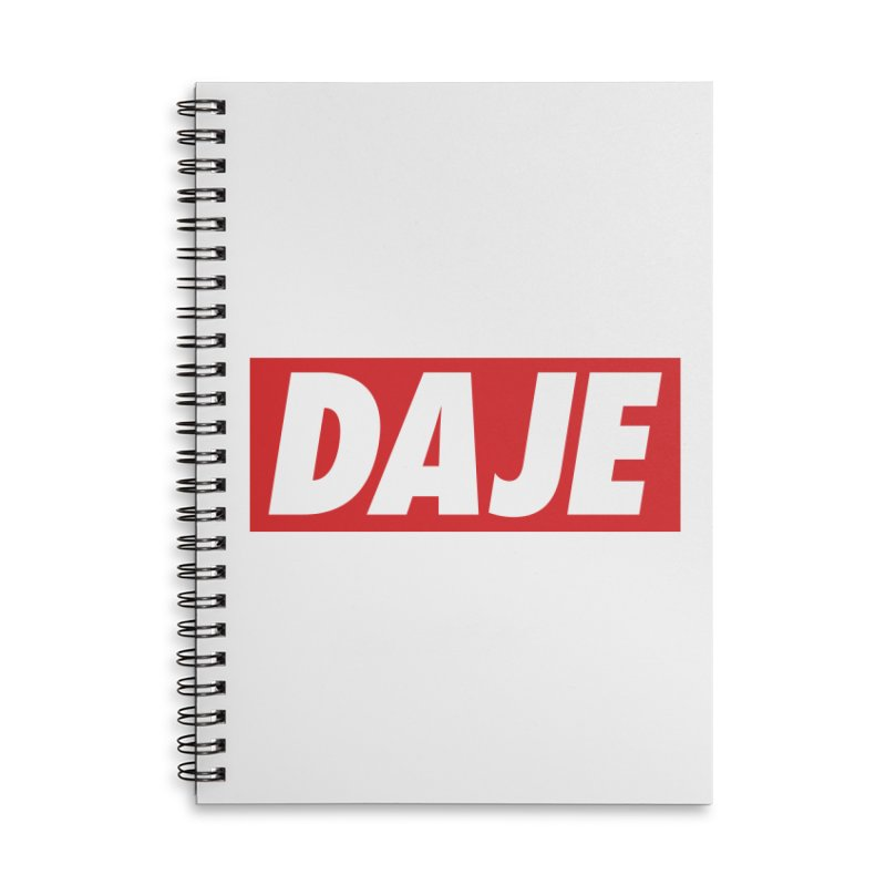 DAJE (red label) Accessories Notebook by Animalanima