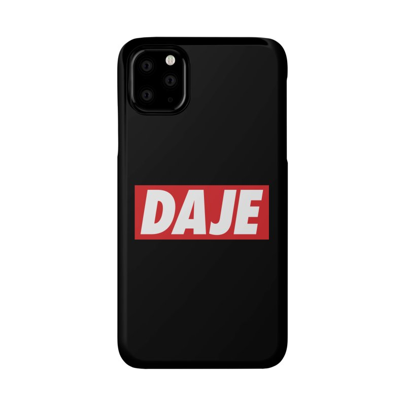 DAJE (RED) Accessories Phone Case by Animalanima Shop