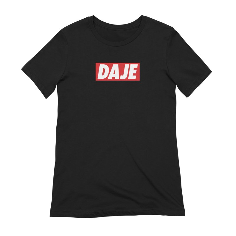 DAJE (RED) Women's Extra Soft T-Shirt by Animalanima Shop