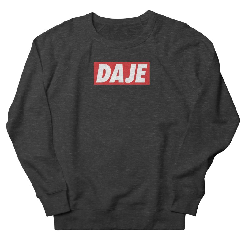 DAJE (RED) Men's French Terry Sweatshirt by Animalanima Shop