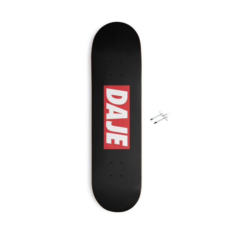 DAJE (RED) Accessories With Hanging Hardware Skateboard by Animalanima Shop