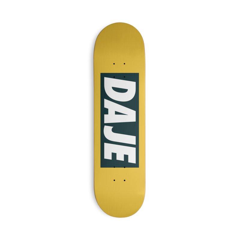 DAJE (BLACK) Accessories Deck Only Skateboard by Animalanima Shop