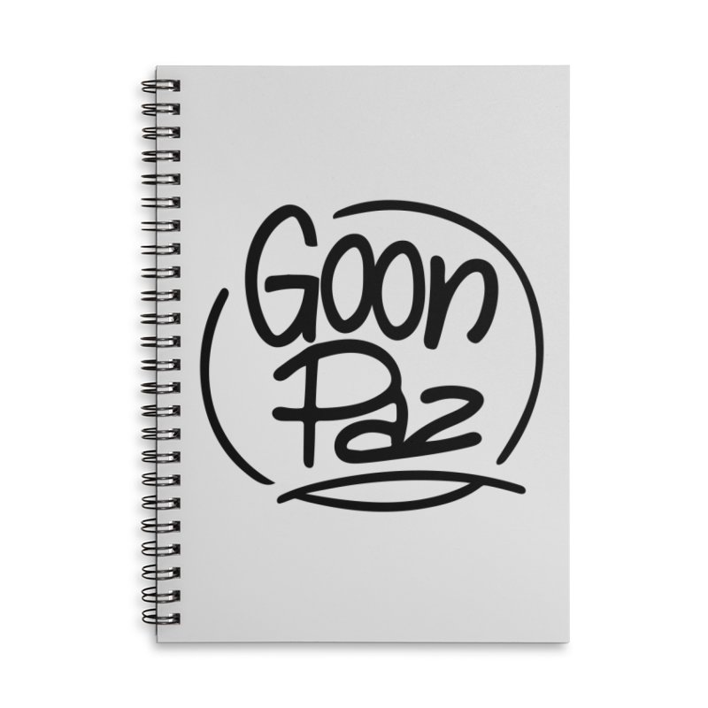 Goonpaz Merch Accessories Lined Spiral Notebook by Animalanima Shop