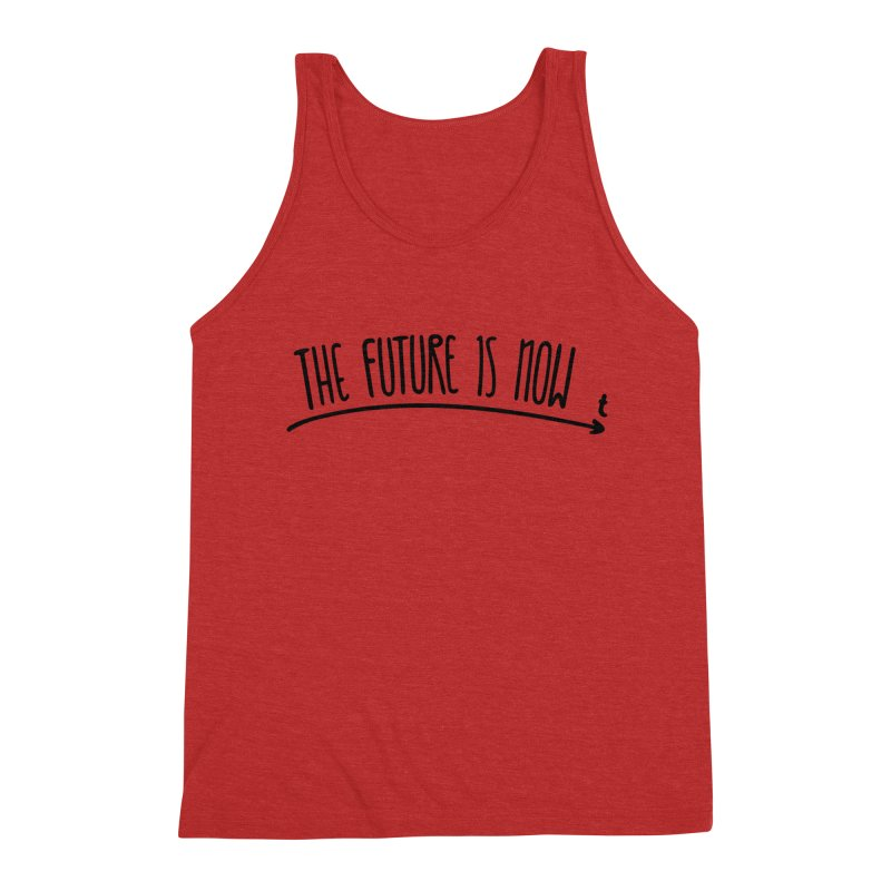 The Future is Now Men's Triblend Tank by Animalanima Shop