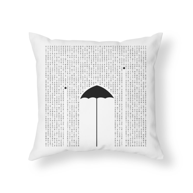 Letters from the silence Home Throw Pillow by Animalanima Shop