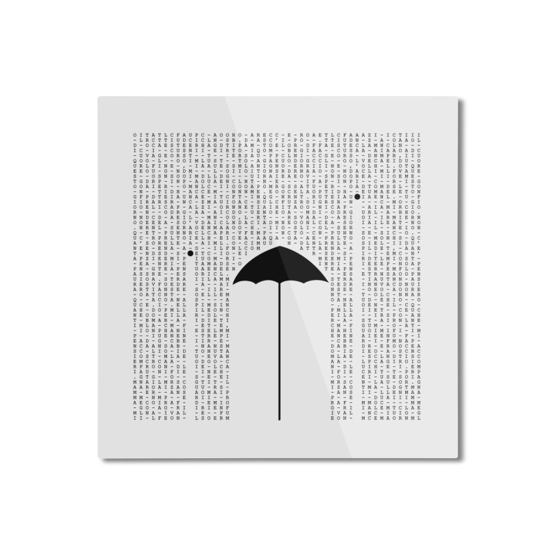 Letters from the silence Home Mounted Aluminum Print by Animalanima Shop