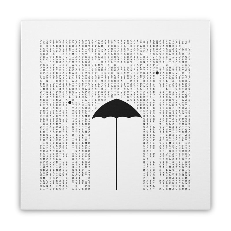 Letters from the silence Home Stretched Canvas by Animalanima