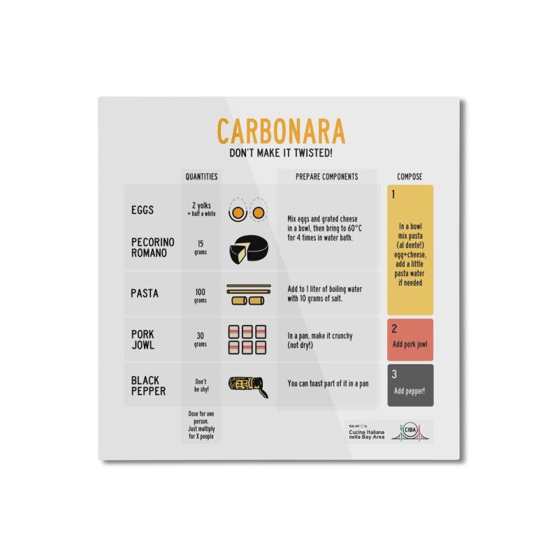 CARBONARA Don't make it twisted! Home Mounted Aluminum Print by Animalanima Shop