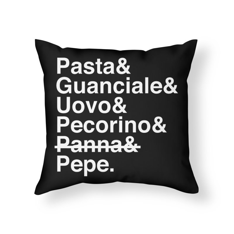 CARBONARA - Elements (no panna) Home Throw Pillow by Animalanima Shop