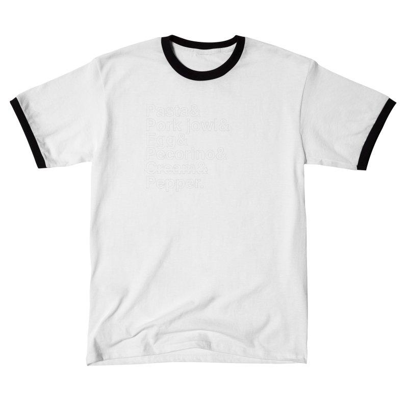 Carbonara Elements Men's T-Shirt by Animalanima