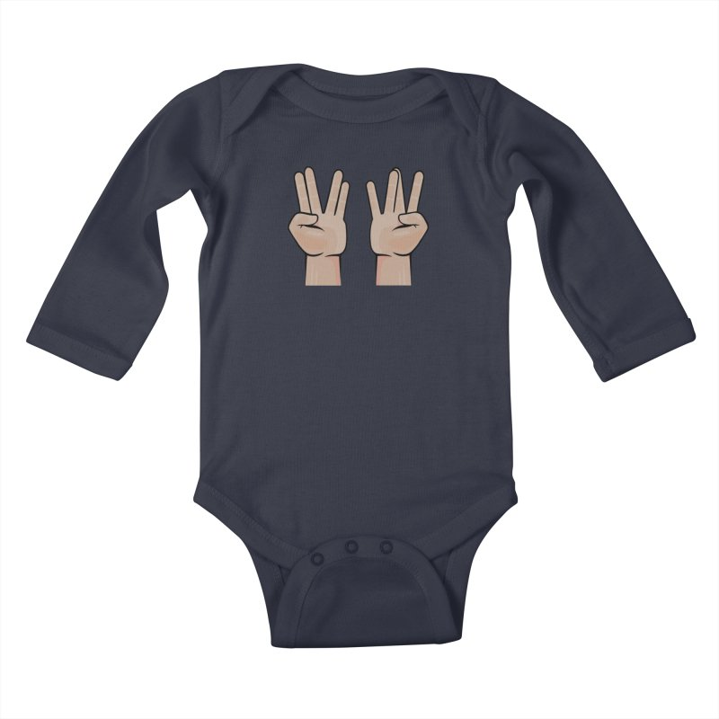 Live Prosper on the Wesside Kids Baby Longsleeve Bodysuit by Animalanima