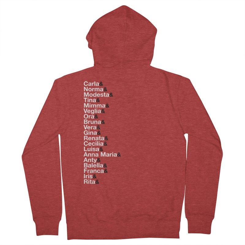 Donne della Resistenza Women's French Terry Zip-Up Hoody by Animalanima Shop