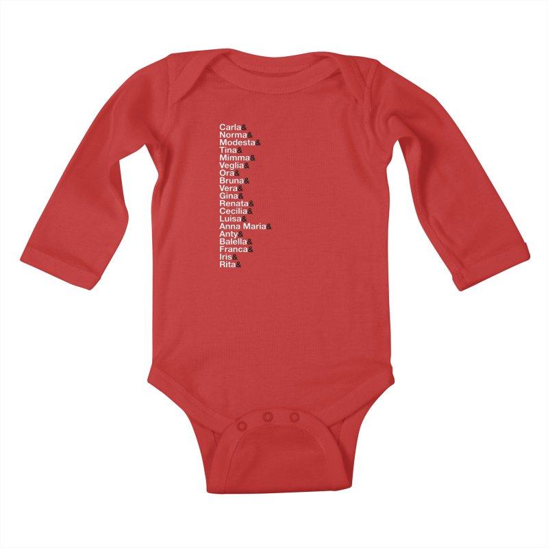 Donne della Resistenza Kids Baby Longsleeve Bodysuit by Animalanima Shop